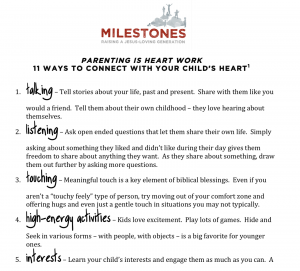 11 ways to connect to your child's heart
