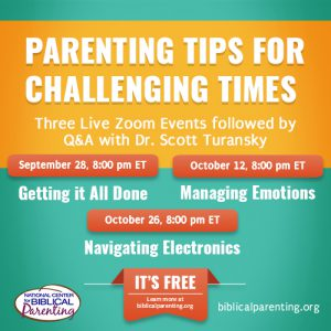 Sign Up for the Live Parenting Seminar